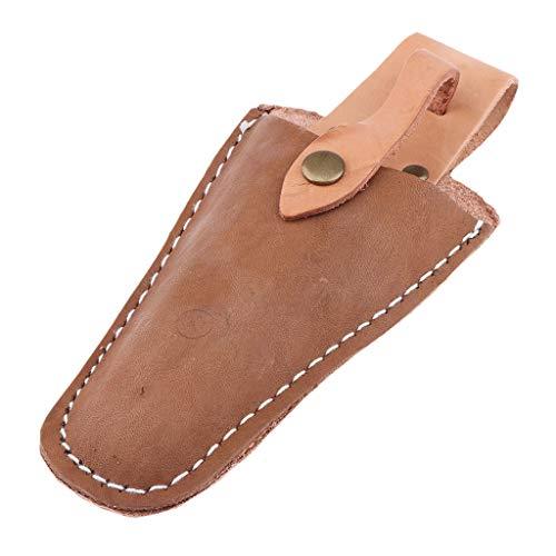 VANKOA Gürteltasche Leder Holster für Gartenschere Ledertasche zur Aufbewahrung am Gürtel oder Hosentasche für Baumschere Pflanzenschere