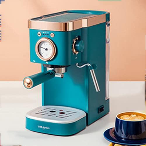 YQYQYQY Mini Cafetera, Presión De Bombas Pod 4 Taza Café Coffee Brewer, Latte and Cappuccino Maker Italiano Semiutation Steam Steam Leche Dropoth 20bar Programable Brew Coffee Machine, Verde