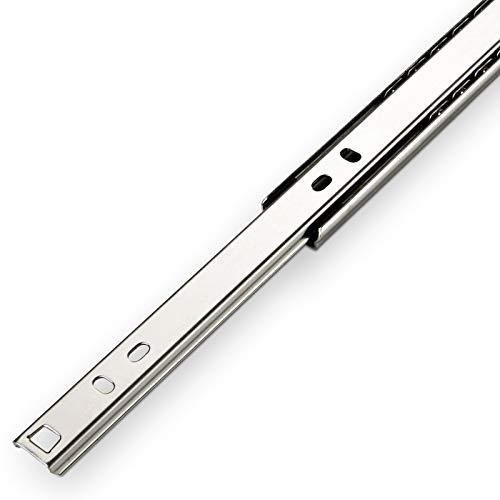 SO-TECH® Teilauszug Schubladenschiene Schubladenauszug H 27 / L 374 mm Teleskopschiene Rollenauszug