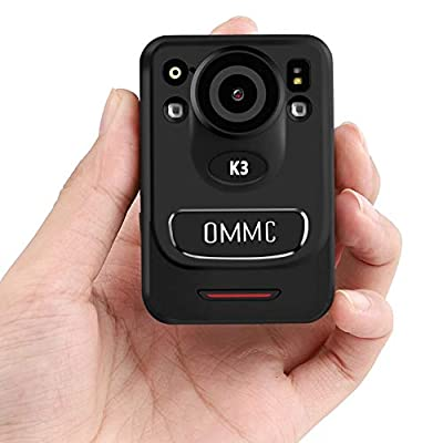 1440P HD Police Body Camera,OMMC K3 Mini Portable Body Camera with Night Vision, 128G Memory Body Worn Camera for Law Enforcement Recorder,Security Guards,Personal Use from OMMC