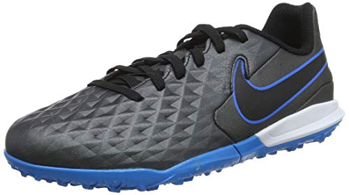 Nike Youth Tiempo Legend 8 Academy TF Soccer Turf Shoes (4) Black/Blue