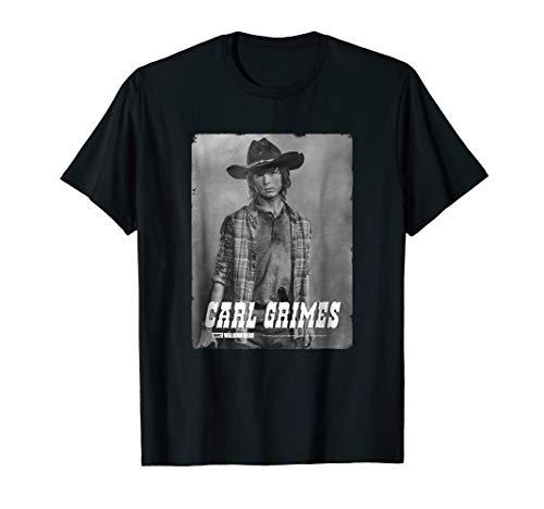 The Walking Dead Carl Silver Portrait T-Shirt