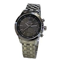 電波ソーラー メンズ腕時計 【エコ 電池交換不要】 ロイヤルモントレス ROYAL MONTRES (NO.3 BK-12.6AL)