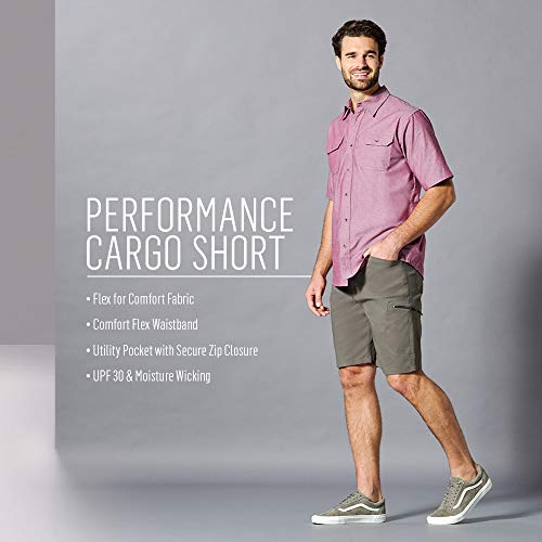 Wrangler Authentics Men's Performance Comfort Flex Cargo Short, Sagebrush, 40
