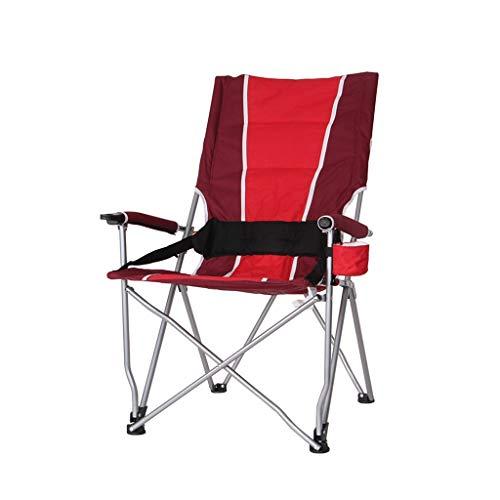 Silla portátil plegable silla de camping portátil silla de camping silla de camping con respaldo alto y bolsillos laterales silla plegable para camping, senderismo, jardinería, muebles de camping