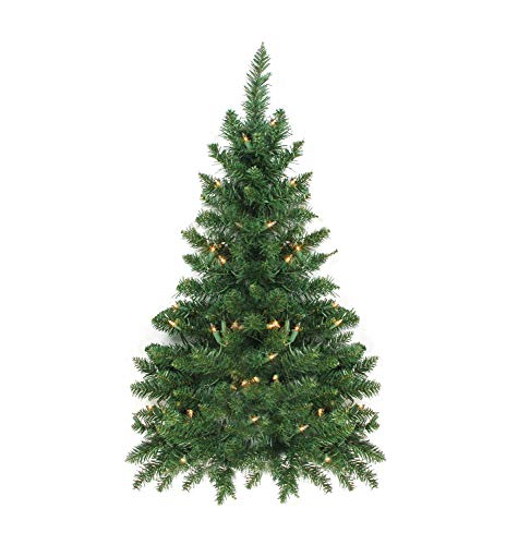 Vickerman 3' Pre-Lit Camdon Fir Artificial Christmas Wall or Door Tree - Clear Lights