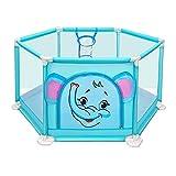 MKJYDM Valla de bebé de Dibujos Animados niño pequeño Interior Valla de Seguridad Infantil Valla de Juegos para niños (Color : Blue, Size : 110×50 cm)