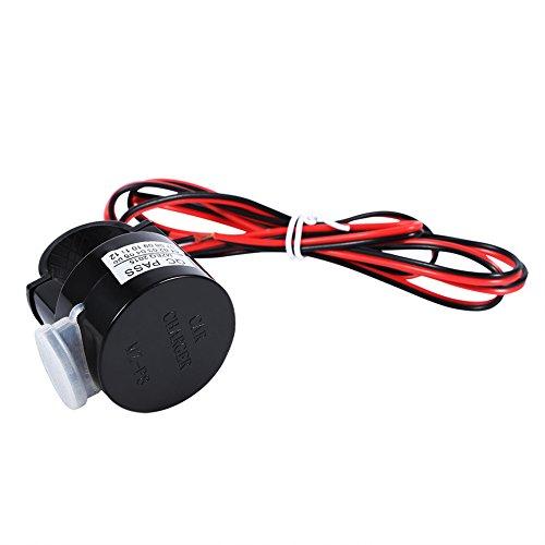 Cargador de coche USB Puerto de cargador de teléfono móvil a prueba de agua para motocicleta 12V para la mayoría de la tensión de alimentación para motocicletas DC 8-28V