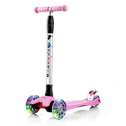 LITIAN Einstellbare Scooter für Kinder Scooter Flash-Scooter Pink