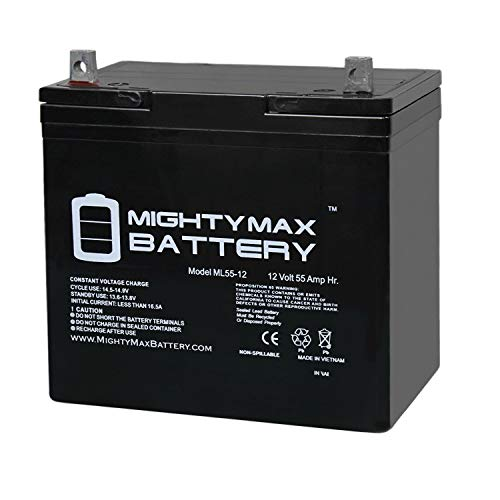 12V 55Ah Power Boat Pontoon Electric Trolling Motor Deep Cycle Battery - Mighty Max Battery brand product