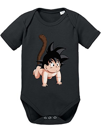Son Goku Baby Strampler Body Dragon Master Son Ball Vegeta Turtle Roshi Db, Größe:68;Farbe:Schwarz