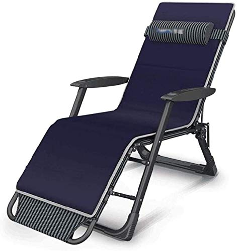 Aoyo Sillas reclinables plegables para salón, sillas anchas, sillas de salón ajustables para terrazas al aire libre, playa, sillas de pesca, 65x98cm a