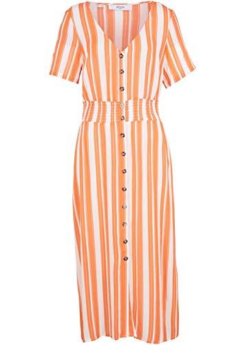 Versandhaus Damen Maite Kelly Kleid mit Knopfleiste, 336201 in Lachsorange/Weiß 46