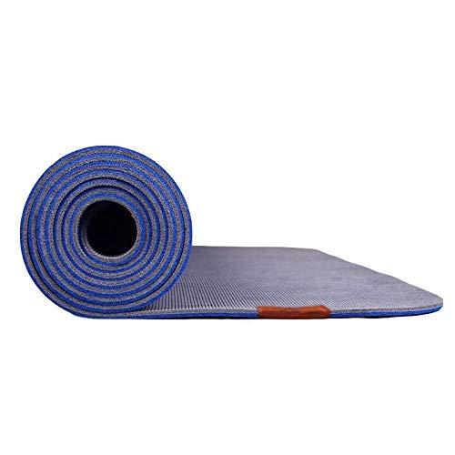 8bayfa 5mm Naturkautschuk-Yoga-Matte for Männer und Frauen Anti-Rutsch-Fitness Training Sit Ups Training Anfänger Mat for Zuhause oder das Fitnessstudio.1202 (Color : Blue, Size : 5mm)