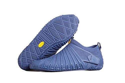 Vibram® FiveFingers® Furoshiki Knit HIGH Men – El original en el set – Zapatillas de descalzo para hombre en diseño de punto con práctica bolsa de transporte, azul marino, 42 UE