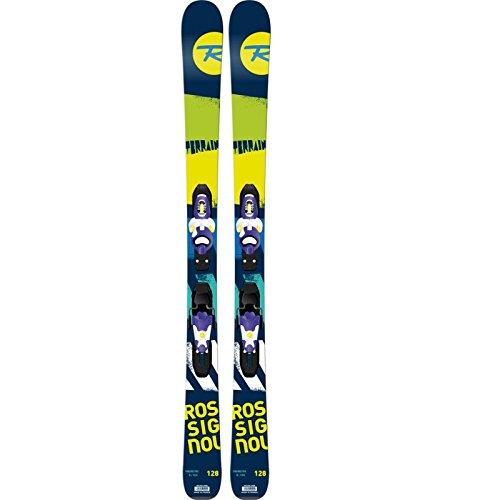 Rossignol - Skis Terrain Boy Kid + Fixations Kid X45 Enfant 104 Cm - Bleu Marine