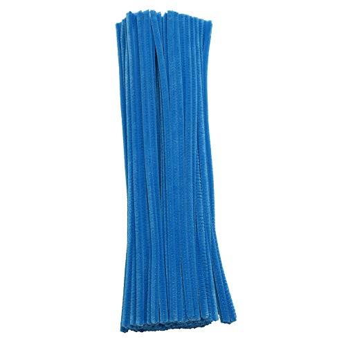 Barrilito P025 Paquete de limpiapipas (0.6 x 30 cm) de color azul plúmbago, bolsa con 100 piezas.,,,…