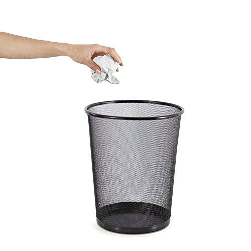 Rohi Mesh Wastebasket Circular Bin (Black)