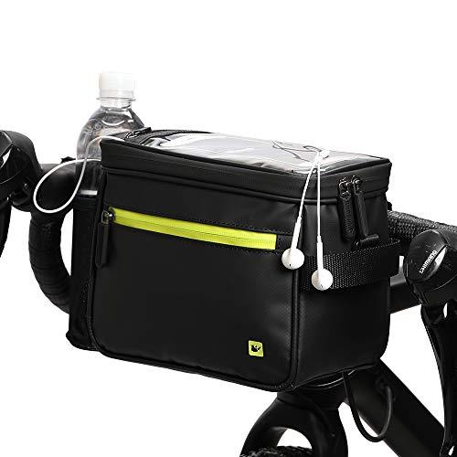 Wildken Fahrrad Lenkertasche wasserdichte Kameratasche MTB Radfahren Transparentem PVC-Sichtfenster für Handy mit Abnehmbarem Schultergurt & Regenschutz Aufbewahrung 4.5L