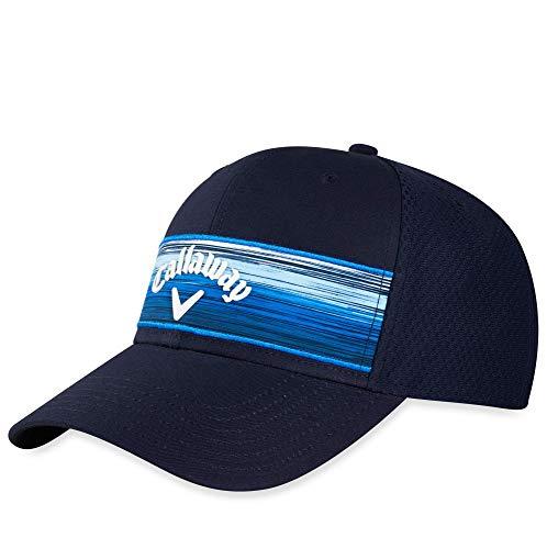 Callaway Golf Stripe Mesh Cap 2020 Einheitsgröße Marineblau/Weiß/Blau