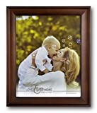 Spiretro 8 x 10 inch Country Scoop Wide Molding, Natural Solid Wood Picture Frame with Plexiglass, Vertically and Horizontally Display for Tabletop or Wall Decor Photo Frame, Plain Honey Brown