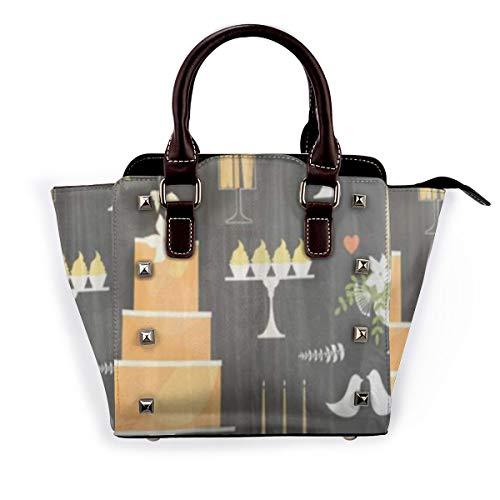 BROWCIN Mode Hochzeitstorten und süße Tabelle Candy Buffet Dessert Bar Muster Abnehmbare mode trend damen handtasche umhängetasche umhängetasche