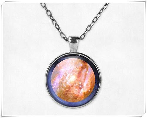 no see long time Collar con Colgante de Venus de Larga duración, Collar de Venus, joyería de Venus, joyería de Planeta, Collar de Galaxia, joyería Espacial.