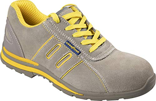 Goodyear Zapatos Seguridad Calzado S1P Metal Free Cuero Gamuza TG.43 - Beis, TG.42 ✅