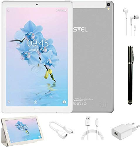 tablet android 6 Tablet PC 10.1 Pollici 4G LTE Dual SIM /WiFi tablet Android 8.0 con 3GB di RAM e 32GB ROM Batteria 8000mAh- Argento