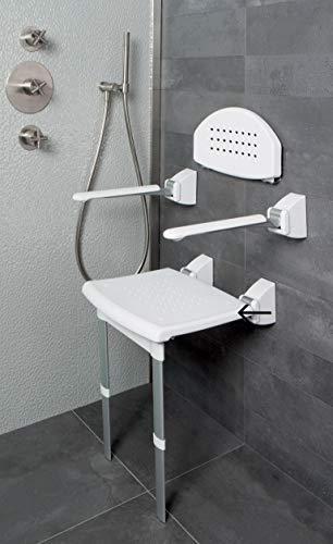 secucare–8045.005.03–Asiento de ducha (montaje en pared plegable con patas extensibles 420x 380mm