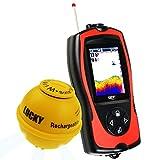 Inalámbrico Sonar Pescado Localizador Ligero Señuelo Sensor Localizador de Peces Mar Pescar 45m Profundidad 100m Operacional Distancia