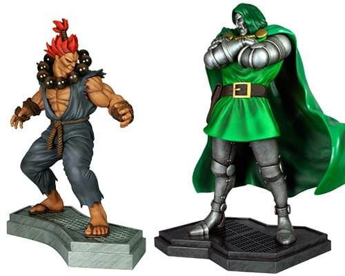 Toynk Doctor Doom Vs. Akuma 1:4 Scale Statue Set image