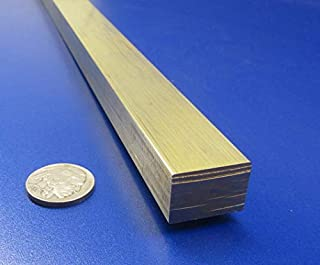 360 Brass Flat Bar Stock.625 Thick x .875 Width x 6 Ft Length 1 Pc.