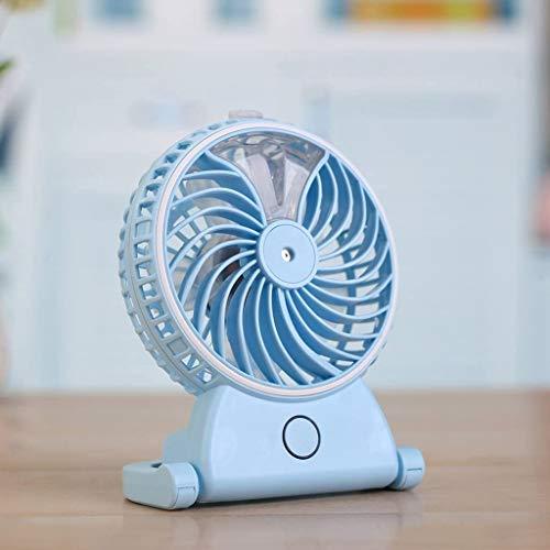 LITING Ventilatore da Tavolo Ventilatore di Carica USB/Mini Muto Portatile, Umidificazione a spruzzo Aria condizionata Piccola Applicare a Ufficio, Studente, Camera da Letto (Colore: Rosa)