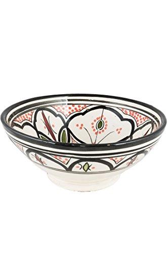 Orientalische Keramikschale Keramikteller Rund Amodini Ø 15cm Groß | farbige marokkanische Keramik Schale Teller bunt aus Marokko | Orient große Keramikschalen flach Geschirr orientalisch handbemalt
