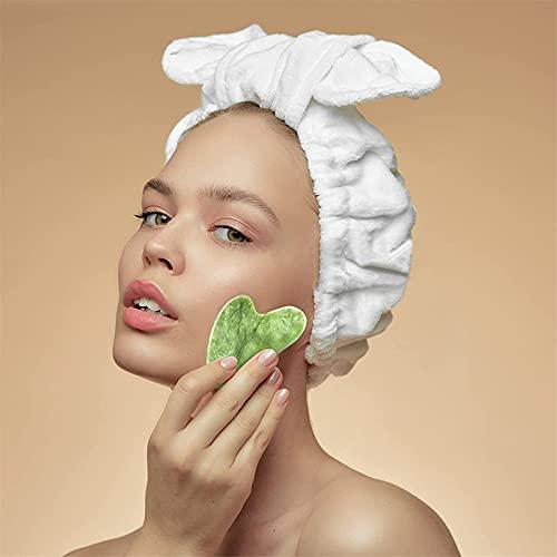 JXWYHH Natural Jade Gua Sha Board Facial and Body Massage Guasha Board, Gua Sha Facial Tool Natural Jade Stone Guasha, Guasha Stone Scraping Board Tool for Spa Face and Body Skin Caring