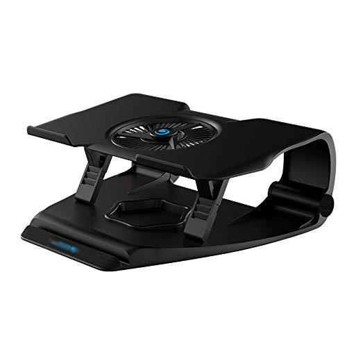 Laptop-Ständer - Kunststoff + Silikon, 6 + 1-Feineinstellung, hohle Wärmeableitung, einfacher vertikaler Ablageschrank des Home-Office-Desktops, erhöhter Halswirbelsäulenkühlung - 2 optional