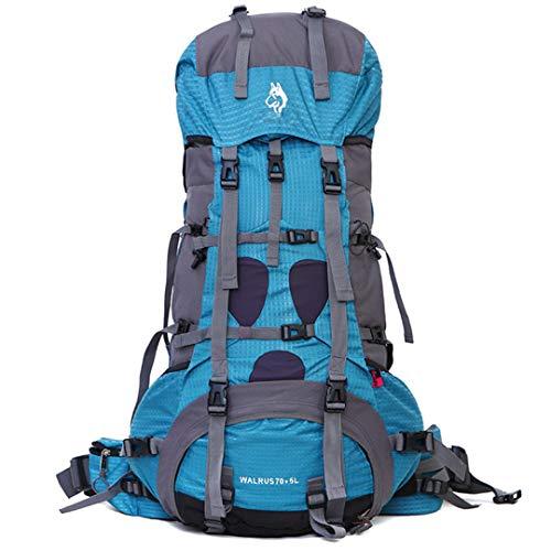 Sac en Plein air Alpinisme 70 +5 L Camping Voyage Professionnel EscalaSac à Dos en Nylon imperméable Alpinisme Blue Color Other