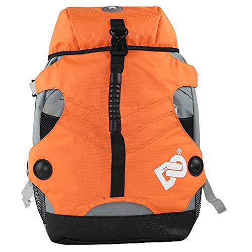 RJHY Rollschuh-Rucksack, wasserdichte Rollschuh-Tasche im Freien Rucksack-Rochen-Rollschuh-Erwachsene Männer und Frauen-Tarnungs-Tasche,Orange