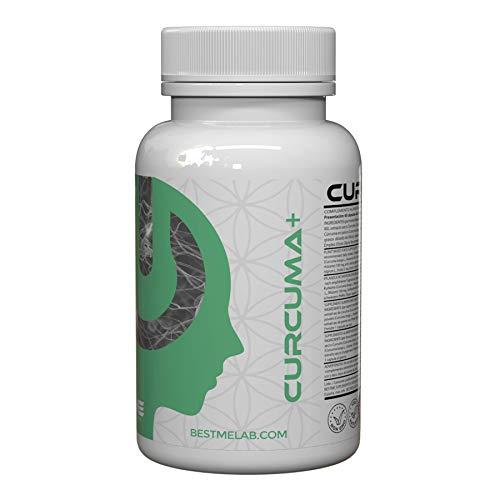 Bestme Curcuma + Curcumina + Pimienta Negra  Fórmula Natural Antiinflamatorio, Analgesico y Antioxidante I Efecto Digestivo I Retención de Líquidos I 60 Cápsulas
