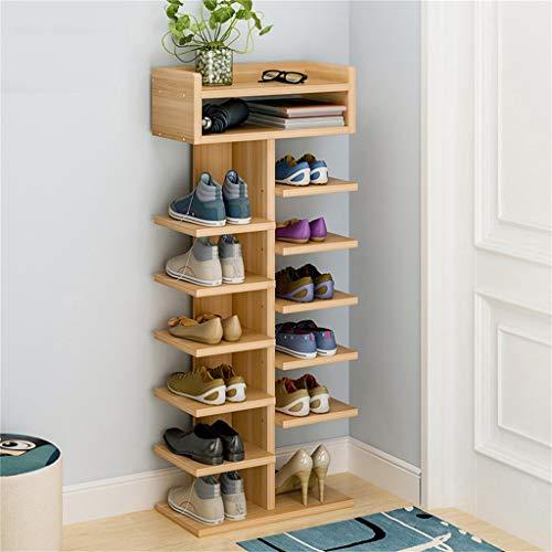 Coco Porte-chaussures Simple Multi-layer Ménage Armoire De Rangement Porche Cabinet Multi-purpose Storage Rack Épaissi Feuille Moderne Assemblé Armoire À Chaussures (Couleur : C)