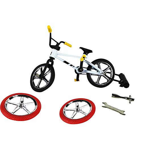 Yinpinxinmao Cute Metal Mini BMX Finger Mountain Bike Toys Kids Simulation Bicycle Model Random Color