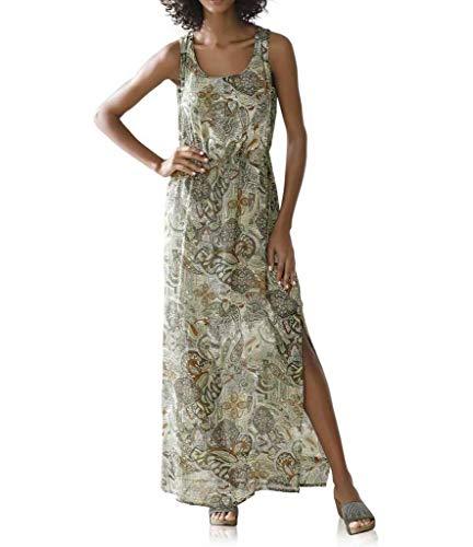 Linea Tesini Maxi Dress, Khaki