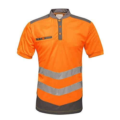 Regatta Herren Poloshirt in Warnfarben (3XL) (Orange/Grau)