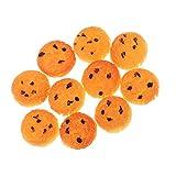 Baoblaze 1/12 Puppenhaus Miniaturen Kekse, Obst, Kuchen, Rotwein Essen Modell für Puppenstube Küche Ornamente - # A - 10pcs