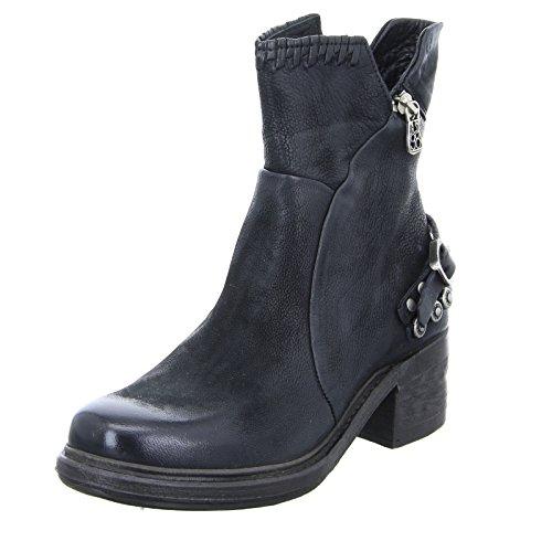 A.S.98 Damen Stiefelette 261231 Boots Leder Blockabsatz Schwarz Größe 40 EU