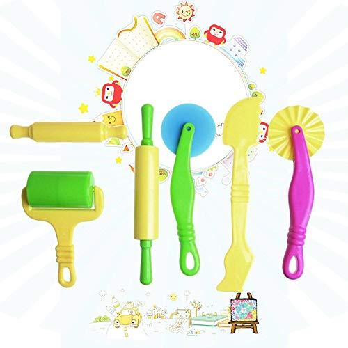 Comaie - Strumenti per argilla e plastilina, in plastica, modelli giocattolo per modellare, accessori per bambini, colorati, ultra-leggeri