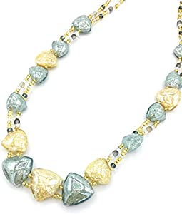 LE GEMME DI VENEZIA Collar de Cristal de Murano Antiguo MURRINA Veneziana