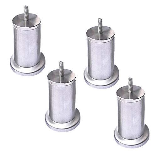 Furniture Leg 4 Piezas De Metal Acero Inoxidable Patas De Sofá Cromado M8 (8mm) para Gabinete Las Camas Mesa Sillas Armario Pie De Repuesto con Nuez