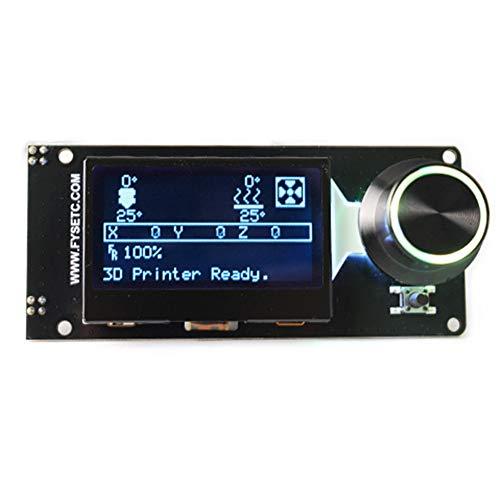 Controlador LCD 12864 Full Graphic, pantalla de repuesto, accesorio 3D de Druer, Smart Panel con ranura para tarjetas, retroiluminación LED, compartimento electrónico (A)